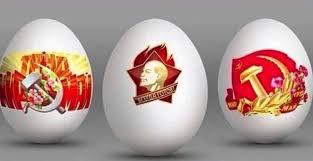 Joyeuse fête de Pâque dans ditchlakwak oeufs-de-paque